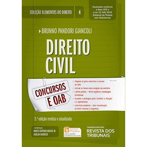 Livro - Direito Civil: Concursos e AOB Coleção Elementos do Direito