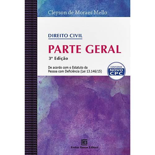 Livro - Direito Civil: Parte Geral
