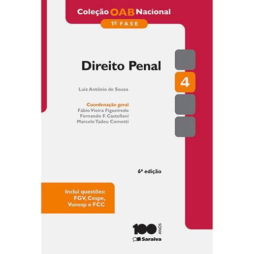 Livro - Direito Penal: Coleção OAB Nacional - 1ª Fase - Vol. 4
