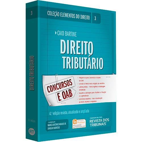 Livro - Direito Tributário: Concursos e OAB - Coleção Elementos do Direito - Vol. 3