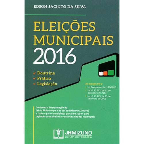Livro - Eleições Municipais 2016