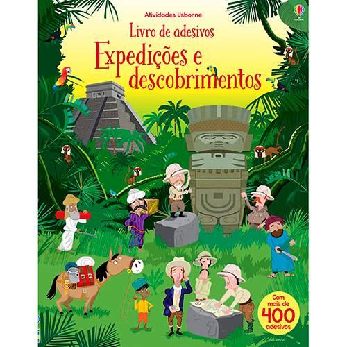 Livro - Expedições e Descobrimentos: Livro de Adesivos