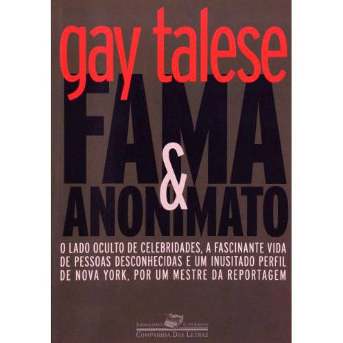 Livro - Fama e Anonimato