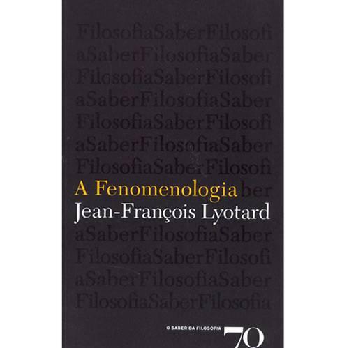 Livro - Fenomenologia , a