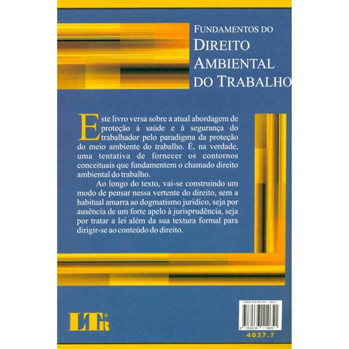 Livro - Fundamentos do Direito Ambiental do Trabalho