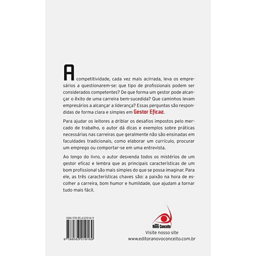 Livro - Gestor Eficaz - Práticas para se Destacar em um Ambiente Empresarial Competitivo