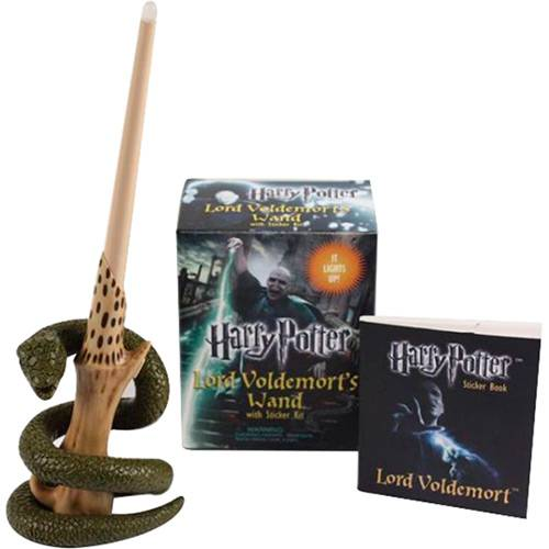 Livro - Harry Potter Lord Voldemort's Wand With Sticker Kit / Lord Voldemort's Sticker Book