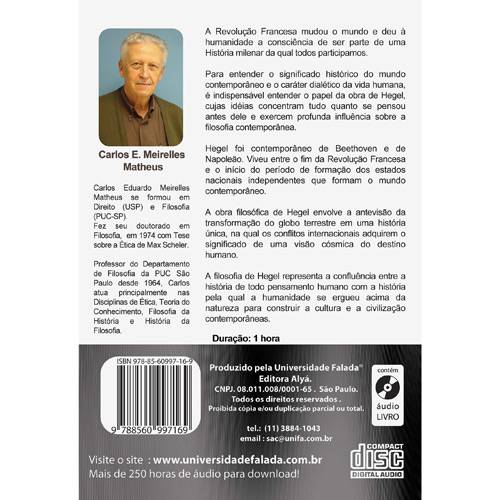 Livro - Hegel: Vida e Obra - Áudio Livro