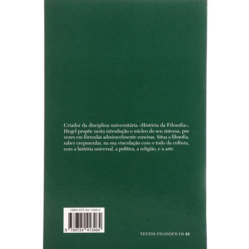 Livro - Introdução à História da Filosofia