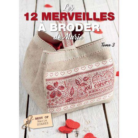 Livro Les 12 Merveilles à Broder de Marie (As 12 Maravilhas do Bordado de Marie)