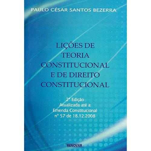 Livro - Lições de Teoria Constitucional e de Direito Constitucional