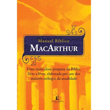 Livro Manual Bíblico MacArthur