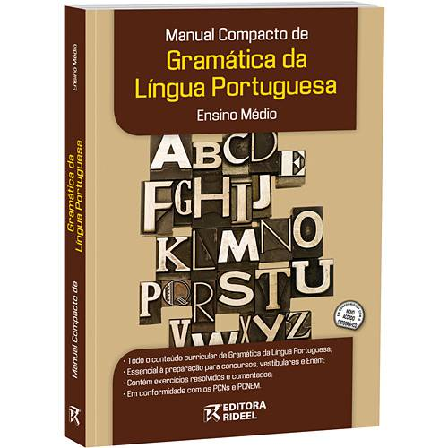 Livro - Manual Compacto de Gramática da Língua Portuguesa - Ensino Médio