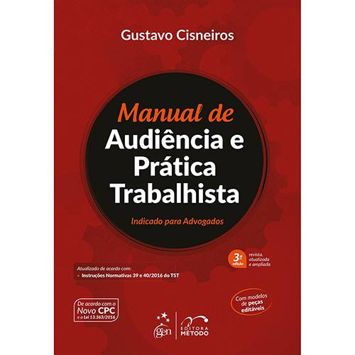 Livro - Manual de Audiência e Prática Trabalhista