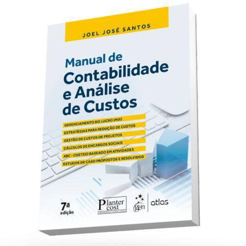 Livro - Manual de Contabilidade e Análise de Custos - Santos