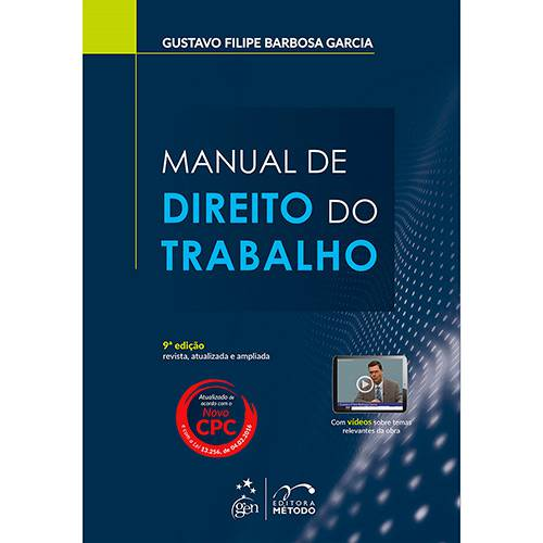 Livro - Manual de Direito do Trabalho