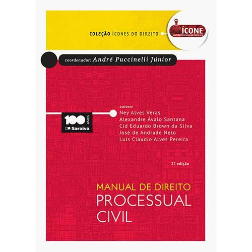 Livro - Manual de Direito Processual Civil: Coleção Ícones do Direito