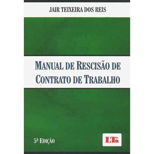 Livro - Manual de Rescisão de Contrato de Trabalho