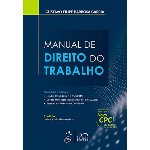 Livro - Manual do Direito do Trabalho