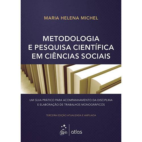 Livro - Metodologia e Pesquisa em Científica Ciências Sociais