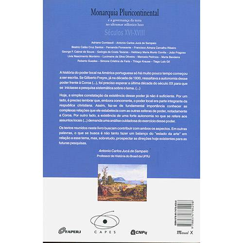 Livro - Monarquia Pluricontinental e a Governança da Terra no Ultramar Atlântico Luso