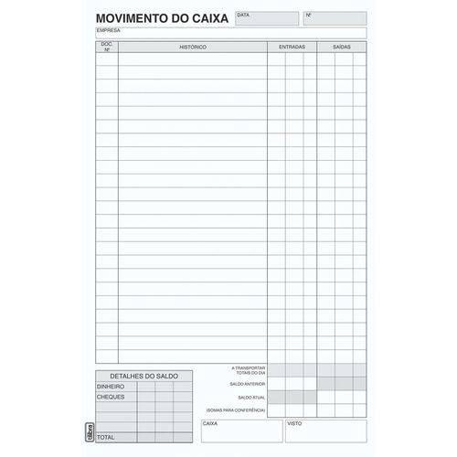 Livro Movimento Caixa Oficio 100 Folhas Tilibra Pct.c/10