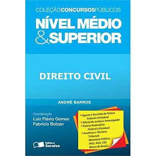 Livro - Nível Médio e Superior: Direito Civil - Coleção Concursos Públicos