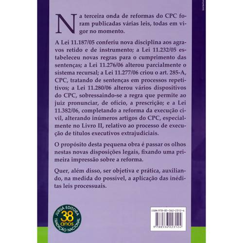 Livro - Novas Reformas do Processo Civil, as