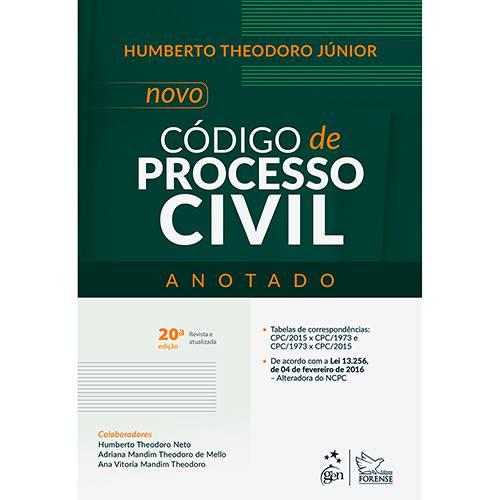 Livro - Novo Código de Processo Civil - Anotado