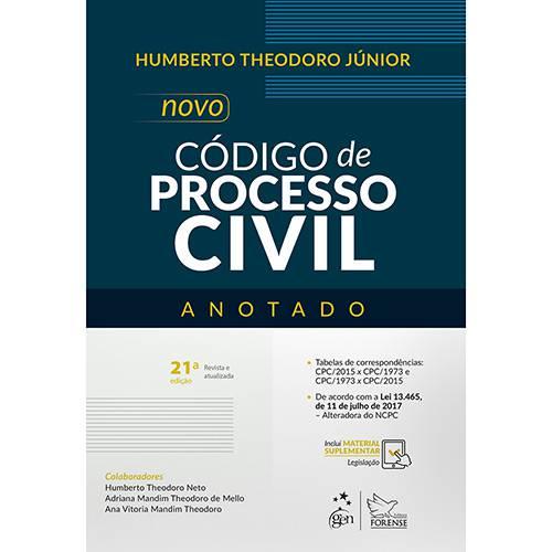 Livro - Novo Código de Processo Civil Anotado