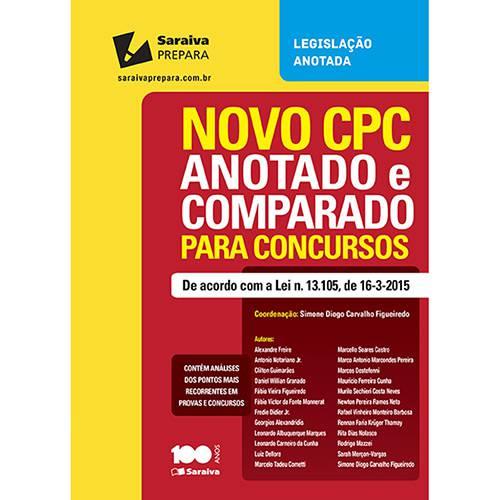 Livro - Novo CPC Anotado e Comparado para Concursos