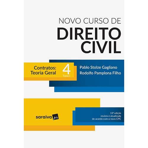 Livro - Novo Curso de Direito Civil 4: Contratos-Teoria Geral ( Tomo I)