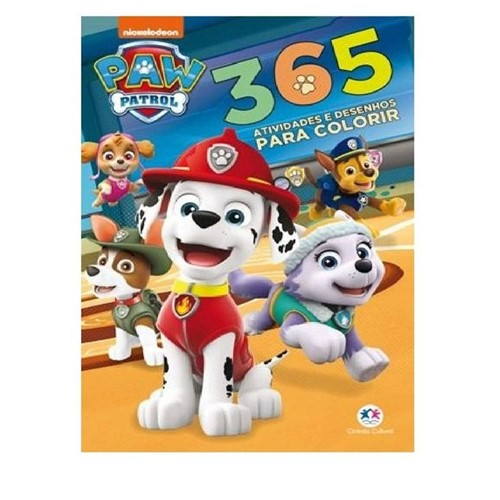 Livro Patrulha Canina com 365 Atividades e Desenhos para Colorir - MELHORAMENTOS