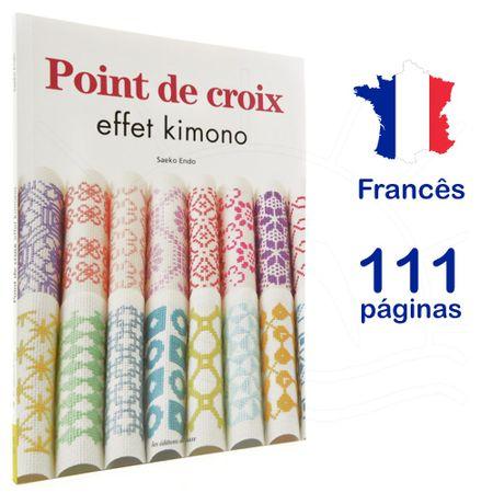 Livro Point de Croix Effet Kimono (Ponto Cruz Efeito Quimono)