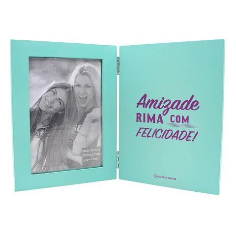 Livro Porta Retrato Amizade de Rima com Felicidade