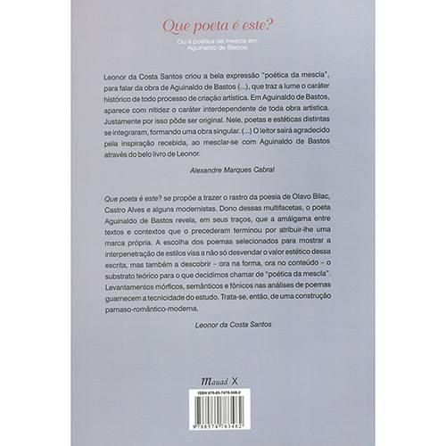 Livro - que Poeta é Este? ou a Poética da Mescla em Aguinaldo de Bastos