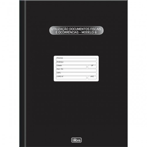 Livro Registro Documento Fiscal e Termos de Ocorrência Capa Dura Modelo 6 - 50 Folhas 121169