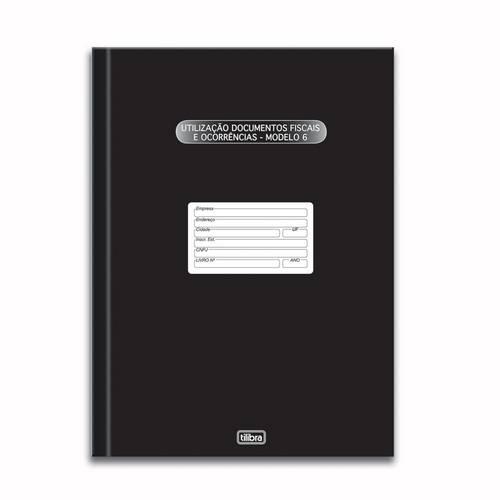 Livro Registro Documento Fiscal e Termos de Ocorrência Modelo 6 50 Folhas Tilibra
