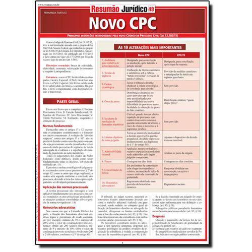 Livro - Resumão Jurídico 49: Novo Cpc