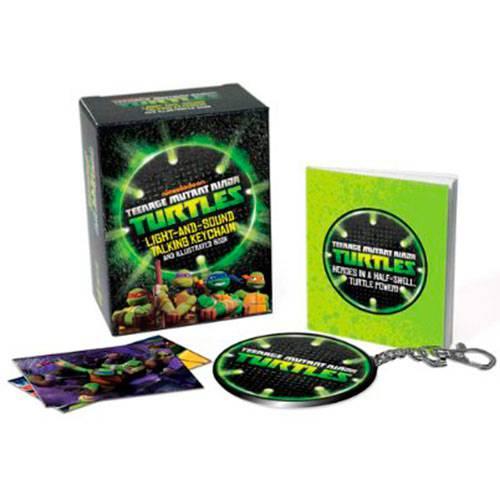 Livro - Teenage Mutant Ninja Turtles: Light-and-Sound Talking Keychain And Illustrated Book