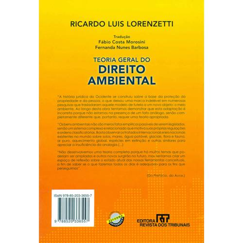 Livro - Teoria Geral do Direito Ambiental