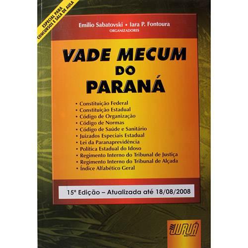Livro - Vade Mecum do Paraná - 2008