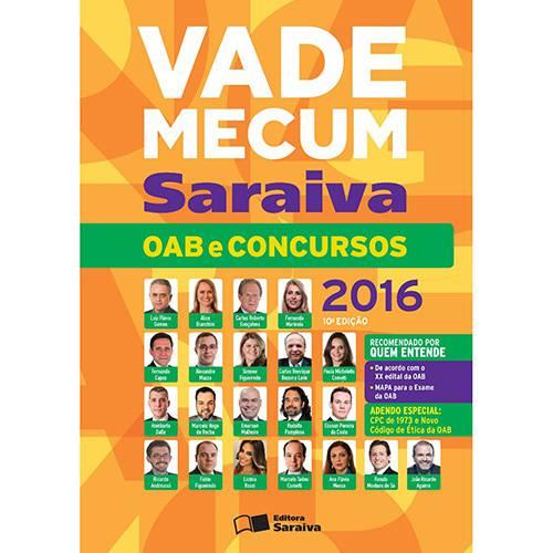 Livro - Vade Mecum Oab e Concursos 2016