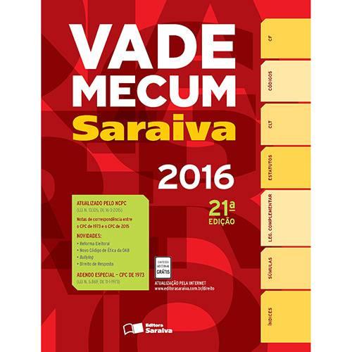 Livro - Vade Mecum Saraiva 2016