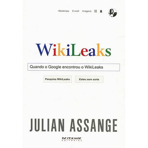 Livro - Wikileaks: Quando o Google Encontrou o Wikileaks