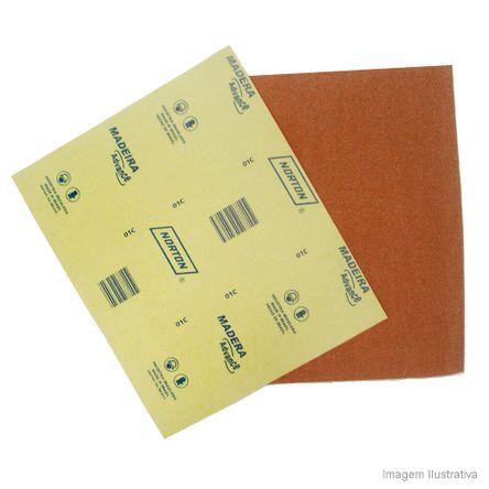 Lixa para Madeira 22,5x27,5cm Gramatura Marrom 180 Norton