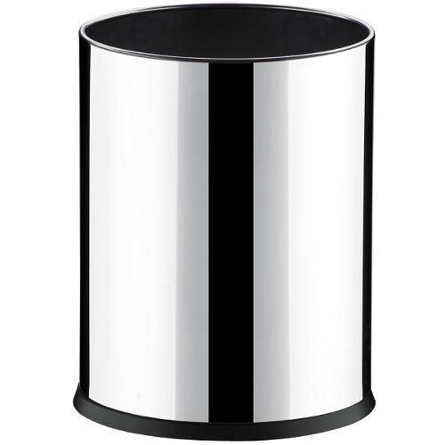 Lixeira 4,5L Aço Inox Fundo Plástico, Design Moderno para Escritório 17X22cm Decorline - Brinox