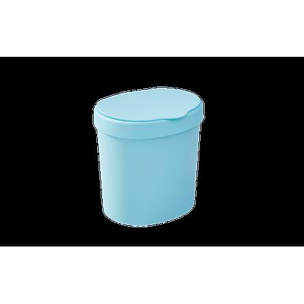 Lixeira 2,5 L 17,5 X 15 X 18,2 Cm Azul Baby Coza