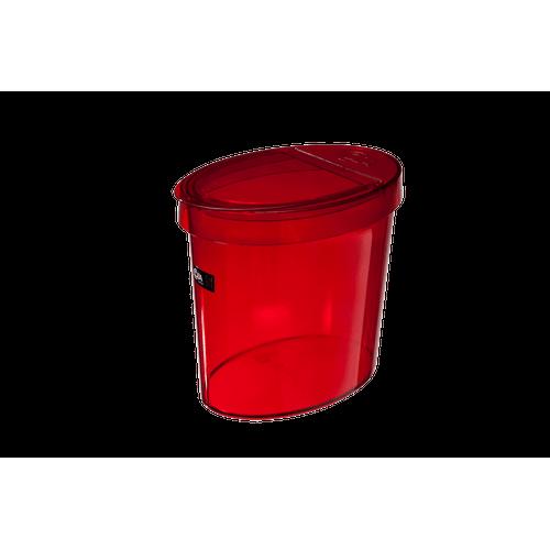 Lixeira 5 L - Retrô 46 X 22,1 X 15 Cm Vermelho Transparente Coza
