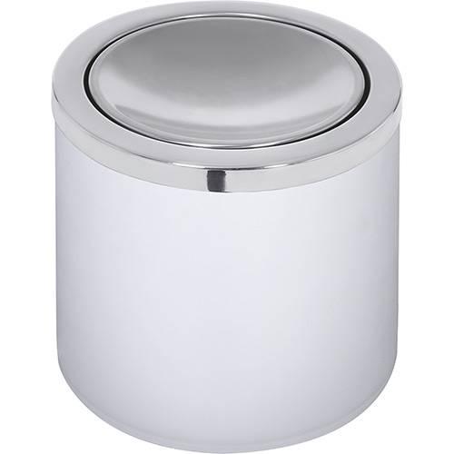 Lixeira Aço Inox Útil Basculante 5 Litros Branca - Tramontina
